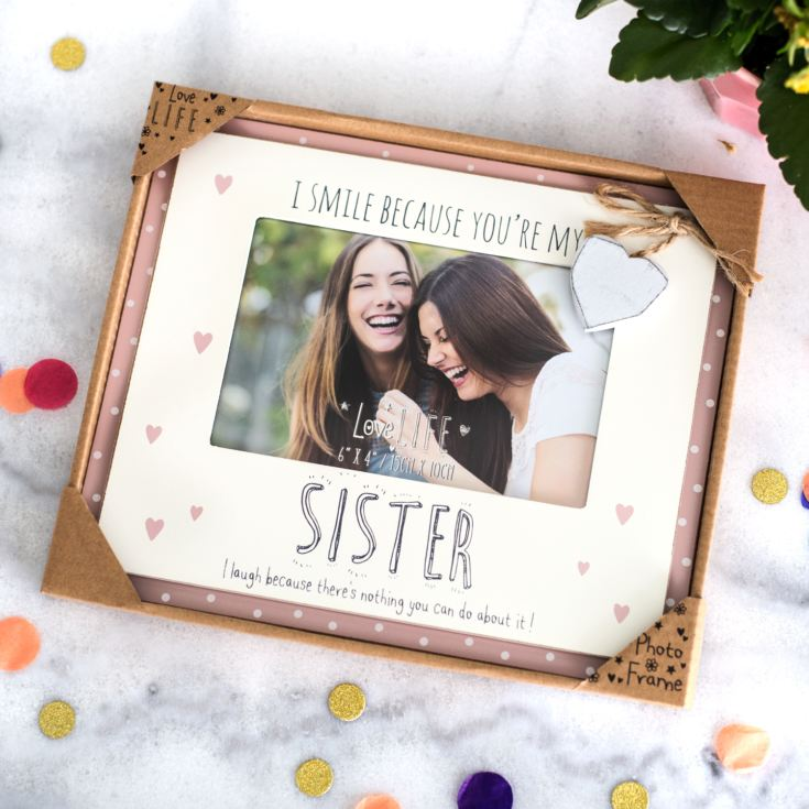 Love Life Sister Photo Frame 6 x 4 product image