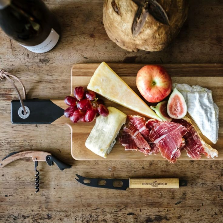 Gentlemen's Hardware Cheese Board & Knife Set with Wine Opener product image