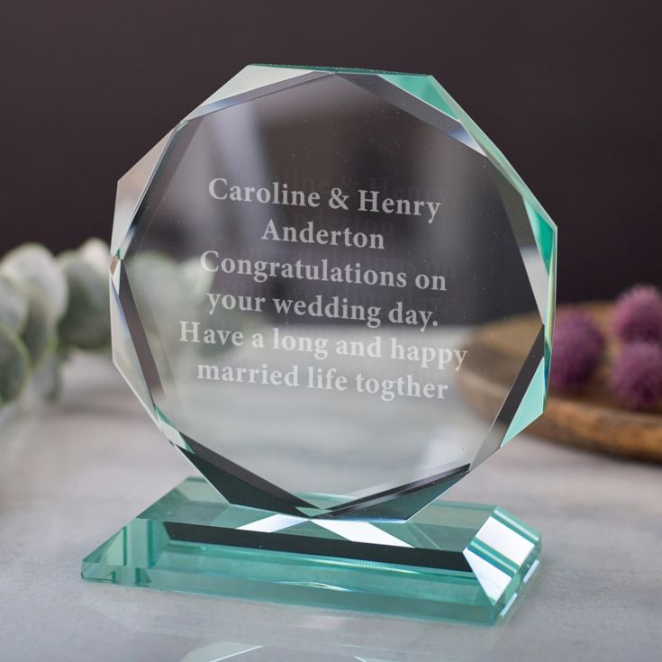Personalised Glass Octagon Award product image