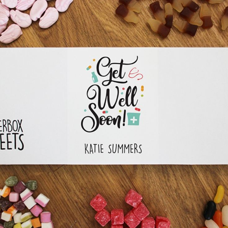 Personalised Get Well Soon - Letterbox Sweets product image