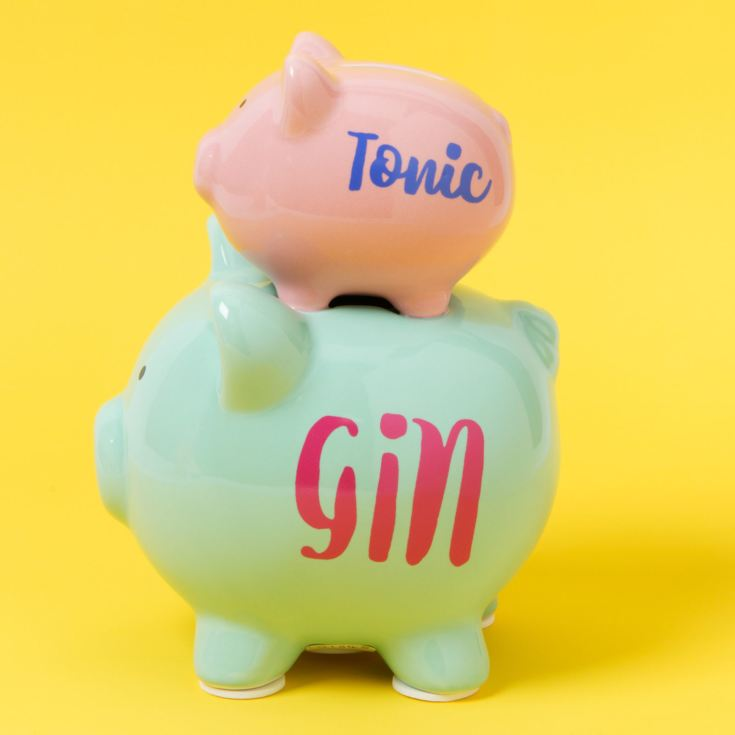 Gin & Tonic Double Pig Money Bank product image