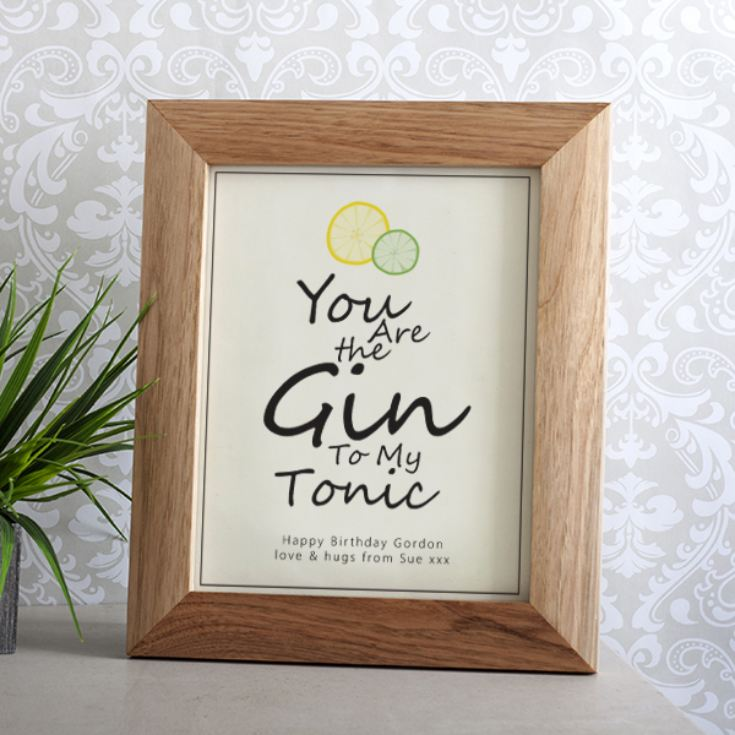Personalised Gin And Tonic Framed Print product image