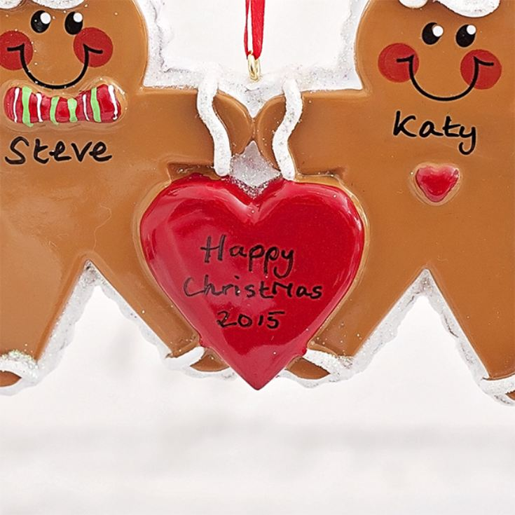 Personalised Gingerbread Couple Hanging Ornament product image