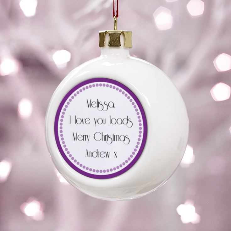 Personalised Beautiful Girlfriend Christmas Bauble product image