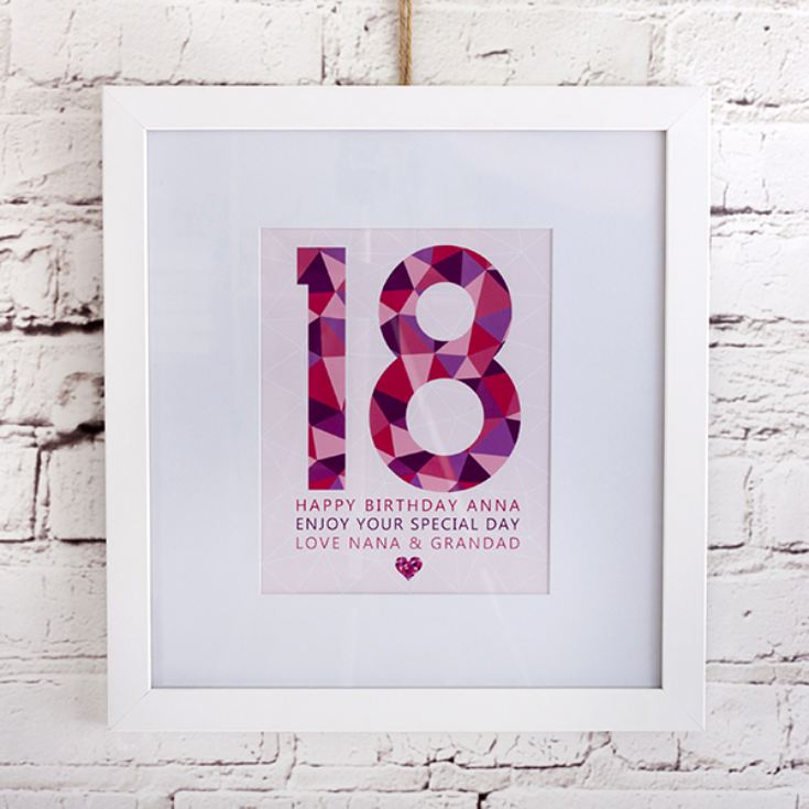 Personalised Girls 18th Birthday Frame Print product image