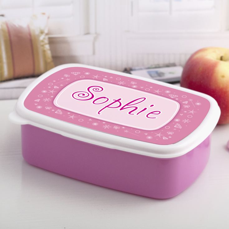 Personalised Girls Name Lunch Box product image
