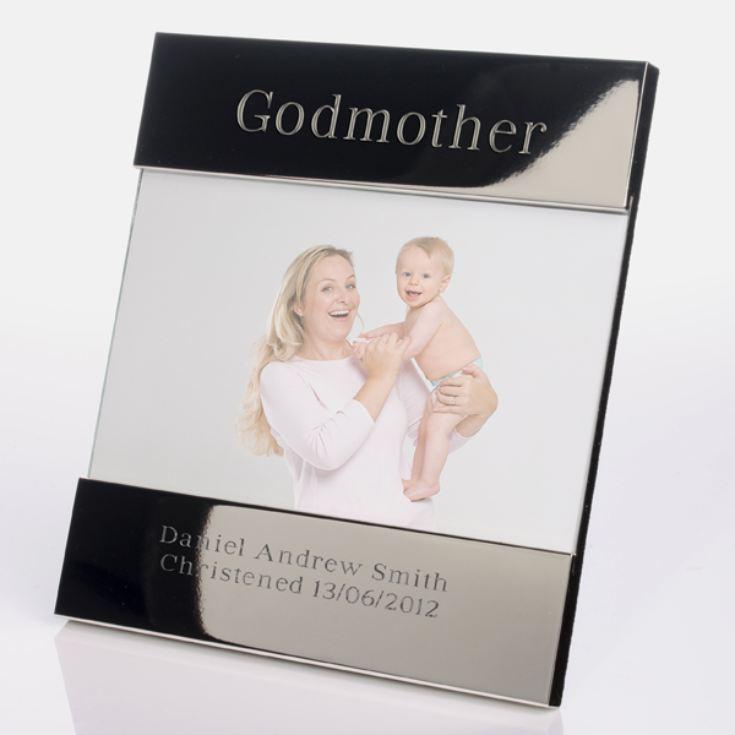 Godmother Wedding Gift: Engraved Godmother Photo Frame