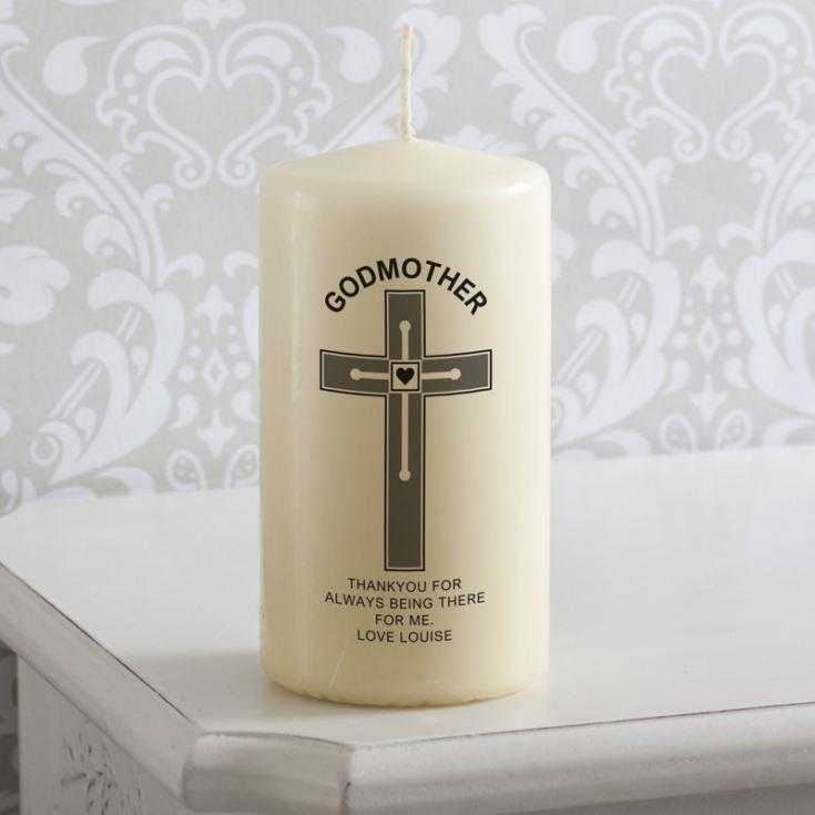 Personalised Godmother Candle product image