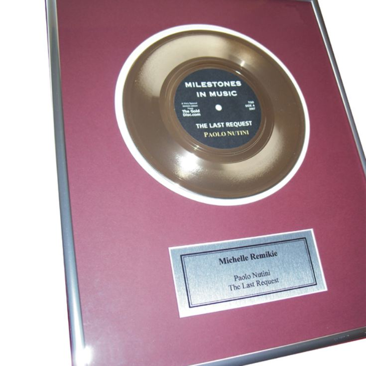 First Anniversary Edition - Personalised Gold Disc product image
