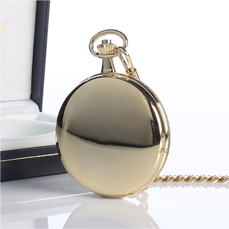 Gold Plated Personalised Pocket Watch product image