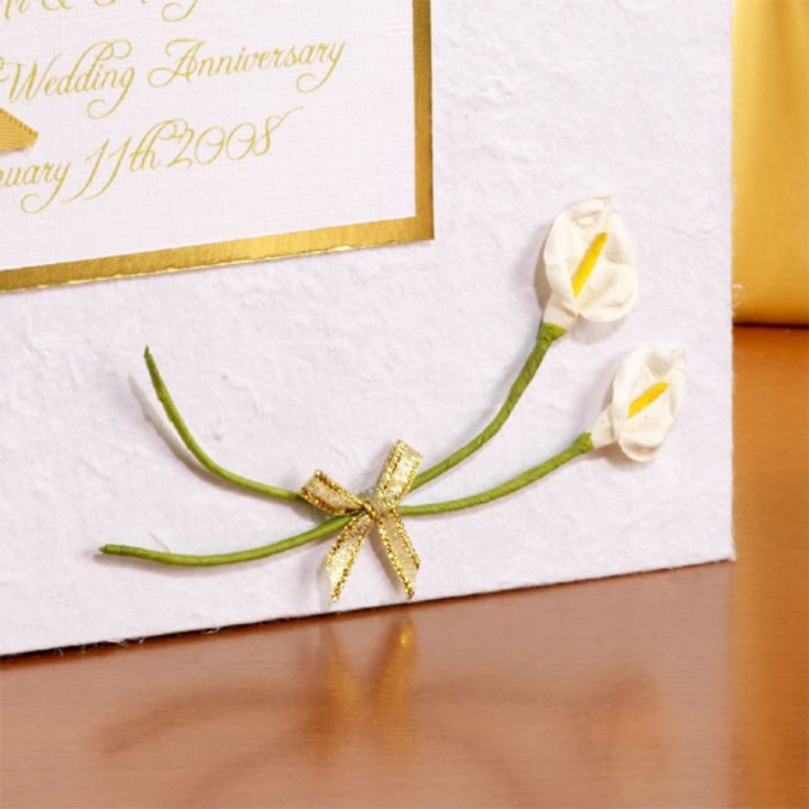 Personalised Golden Wedding Anniversary Photo Album product image