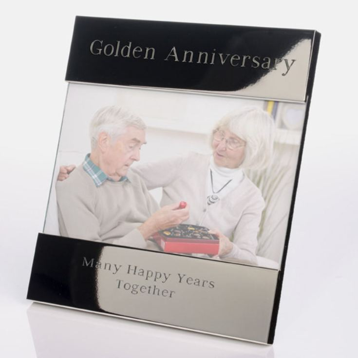 Engraved Golden Anniversary Photo Frame product image