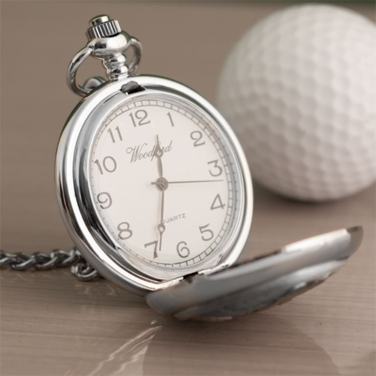 Personalised Golfer Pocket Watch product image