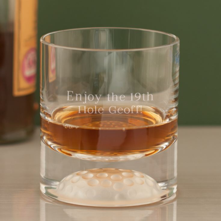 Personalised Golf Ball Whisky Tumbler product image