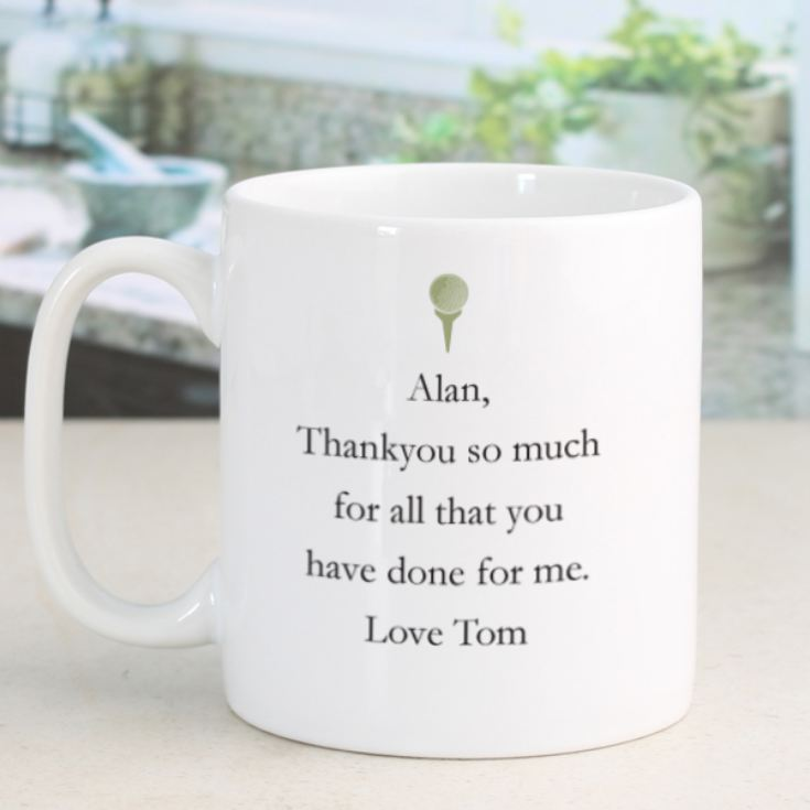 Personalised Simply The Best Golfer Design Mug product image