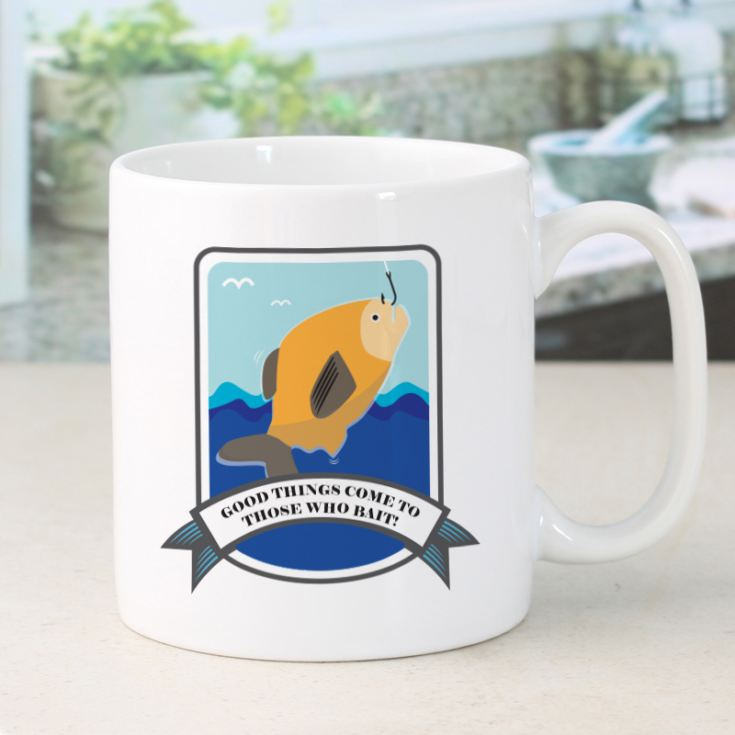 Personalised Good Things Come To Those Who Bait Fishing Mug product image