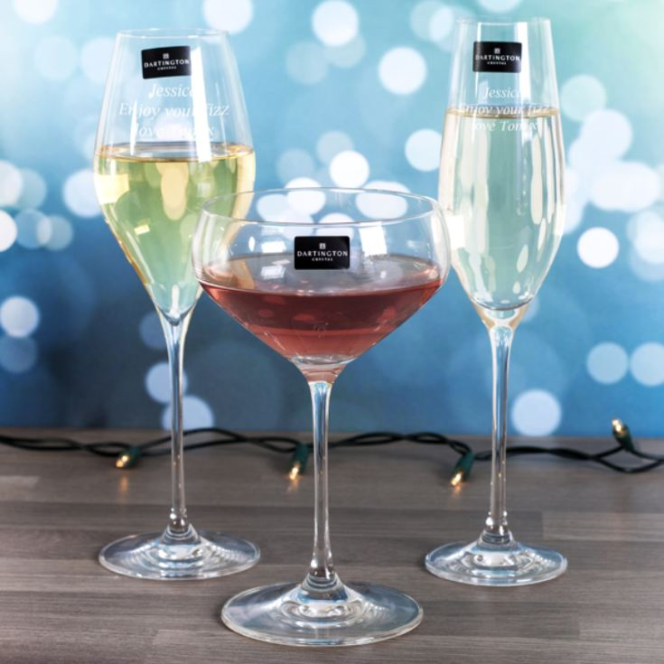 Personalised Dartington Fizz Fizz Fizz Glass Set product image