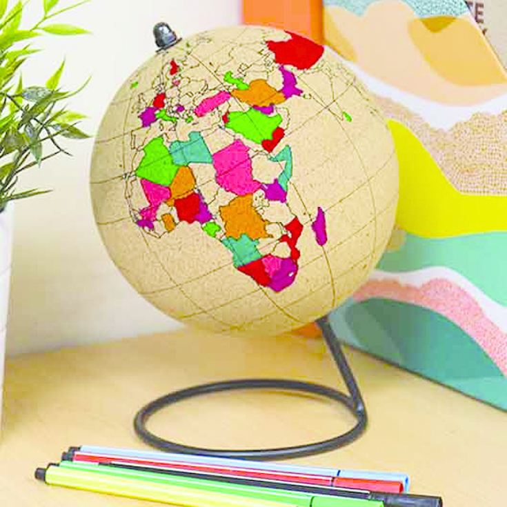Colour In Cork Globe product image
