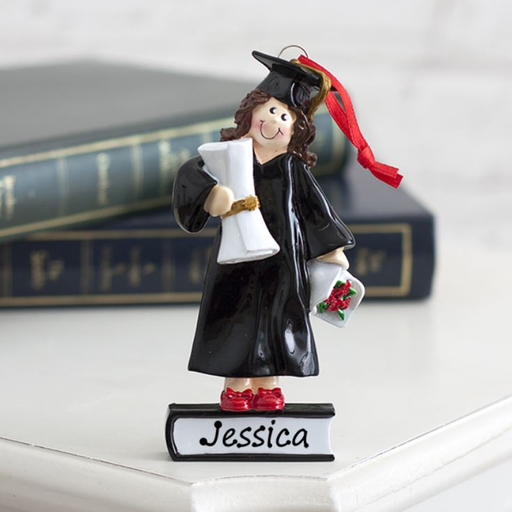 Personalised Graduate Girl Hanging Ornament product image