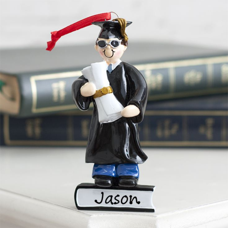 Personalised Graduate Boy Hanging Ornament product image