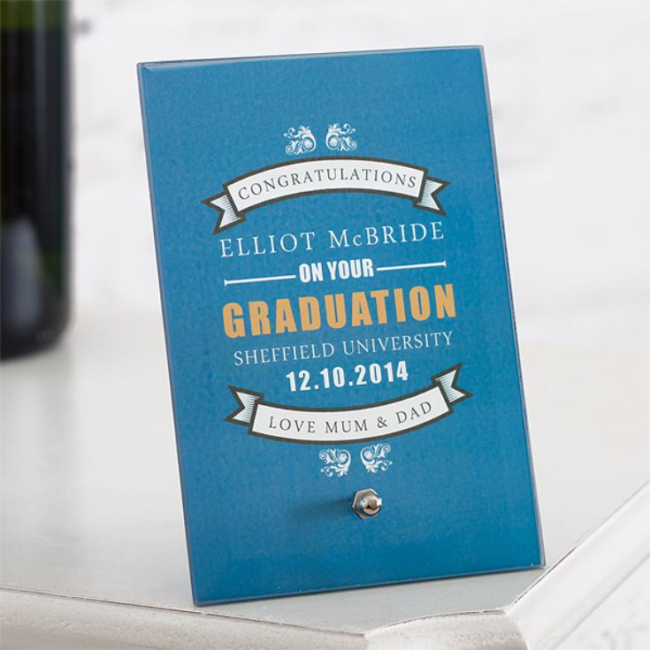 Personalised Graduation Glass Plaque product image