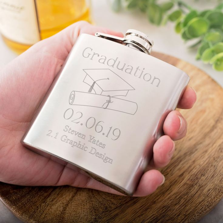 Personalised Graduation Hip Flask product image