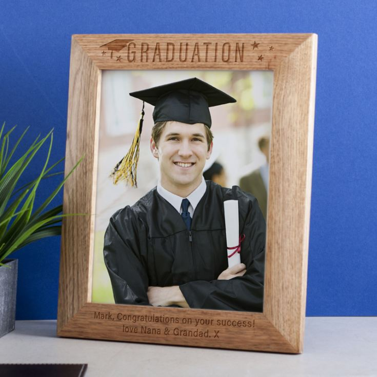 Personalised Graduation 8x10 Oak Frame product image