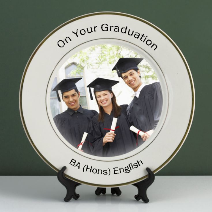 Personalised Graduation Photo Plate product image