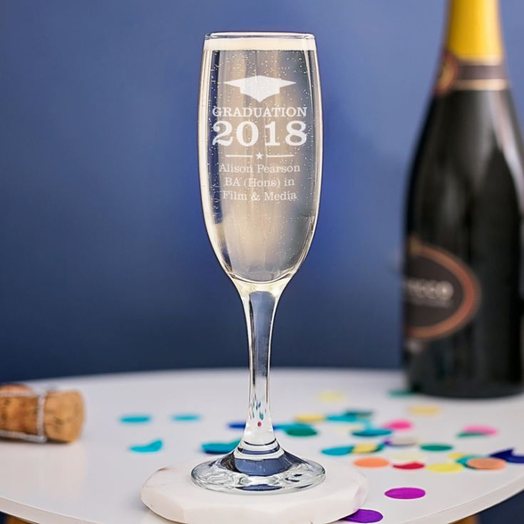 Personalised Graduation Prosecco Glass product image