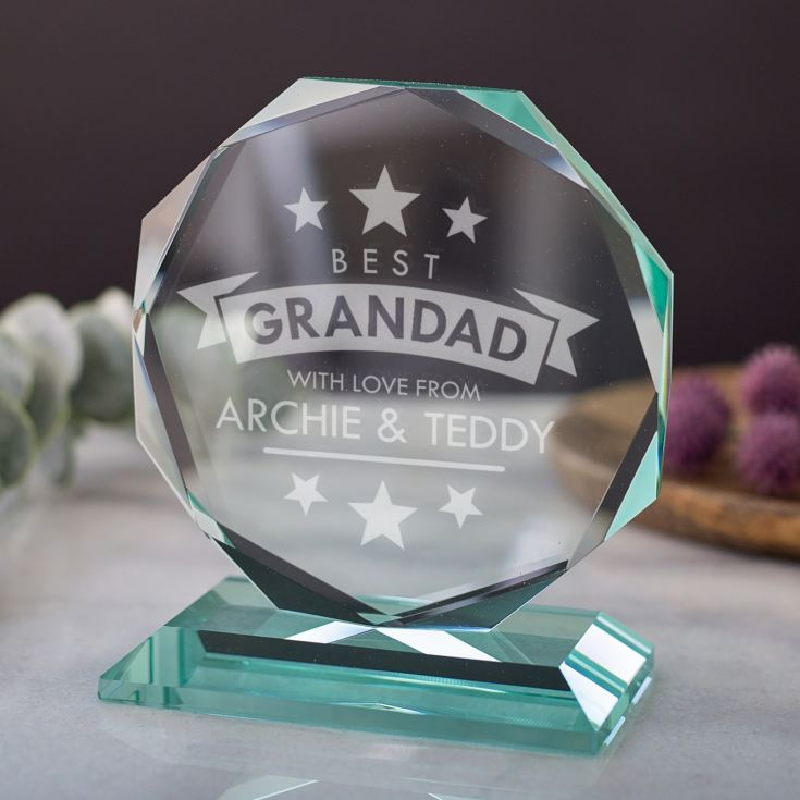 Personalised Best Grandad Octagon Award product image
