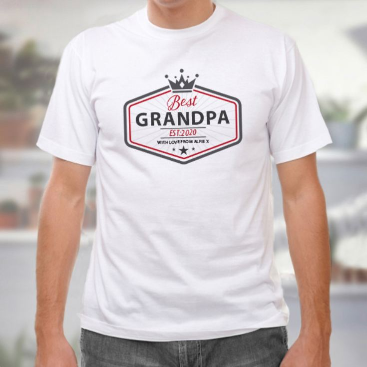 Personalised Best Grandad T-Shirt product image