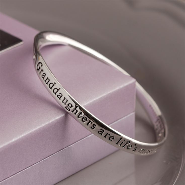 Granddaughter Bangle In Personalised Gift Box
