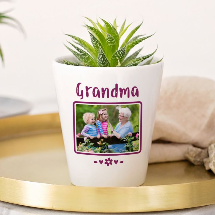 Personalised Grandma Photo Plant Pot product image