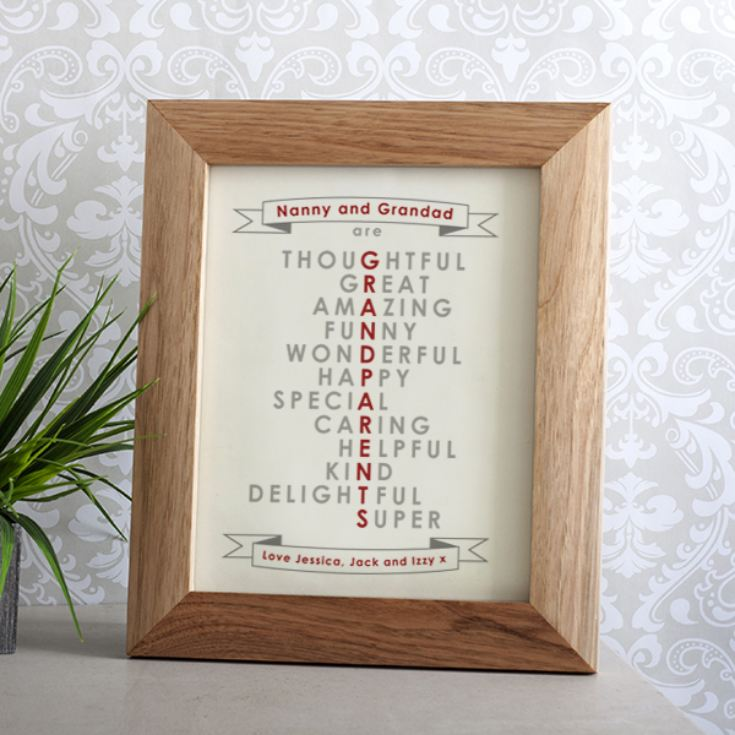 Personalised Grandparent Framed Print | The Gift Experience