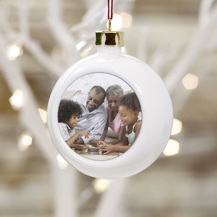 Personalised Grandparent Photo Bauble product image
