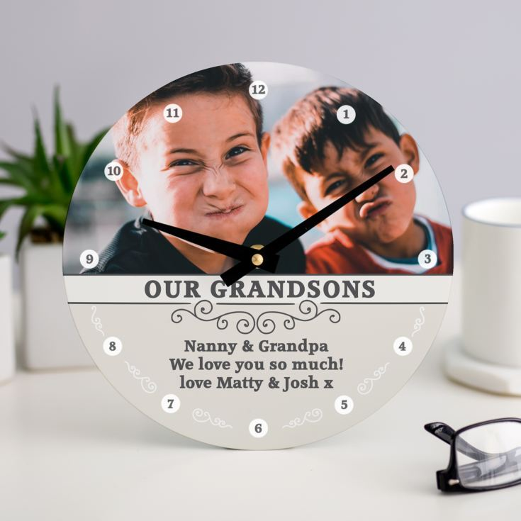 Personalised Grandparents Photo Upload Clock product image