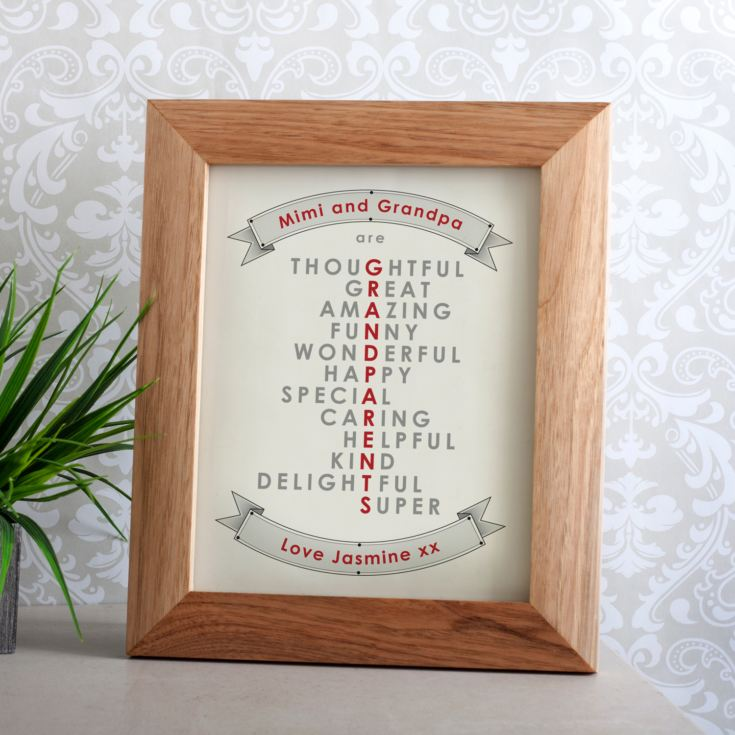 Personalised Grandparent Framed Print product image