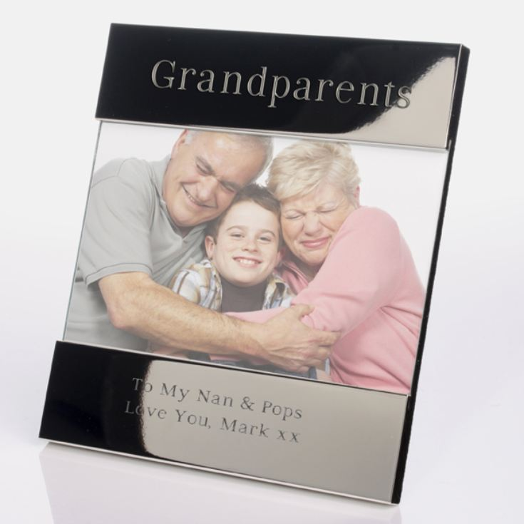 Engraved Grandparents Photo Frame product image