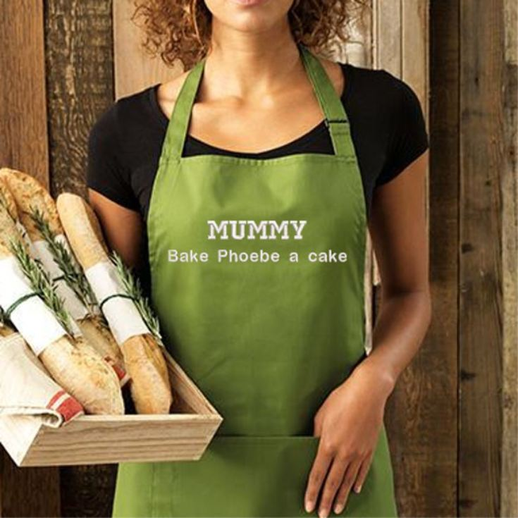 Personalised Embroidered Oasis Green Adult Pocket Bib Apron product image