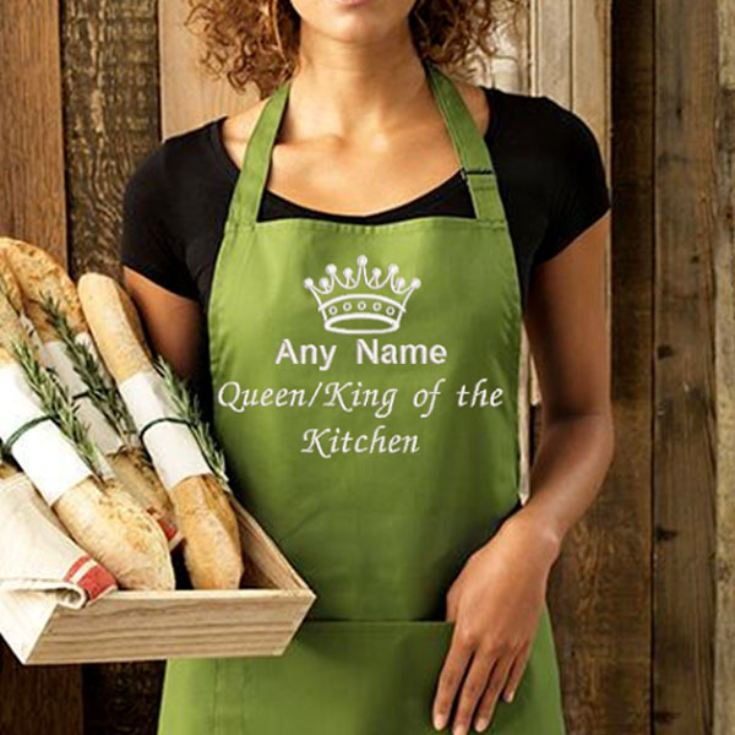 Personalised Embroidered King/Queen of the Kitchen Apron product image