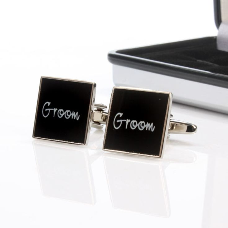 Wedding Party Cufflinks With Personalised Box product image