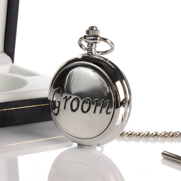 Groom Pocket Watch With Personalised Gift Box product image
