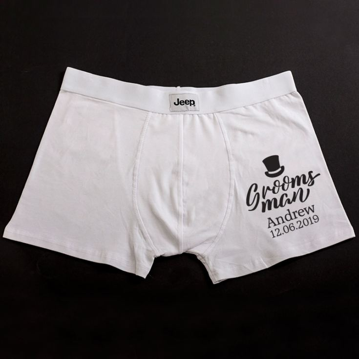 Personalised Groomsman Boxer Shorts product image