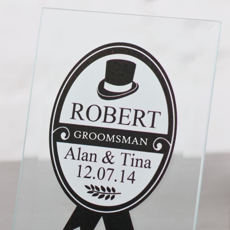 Personalised Groomsman Glass Plaque product image