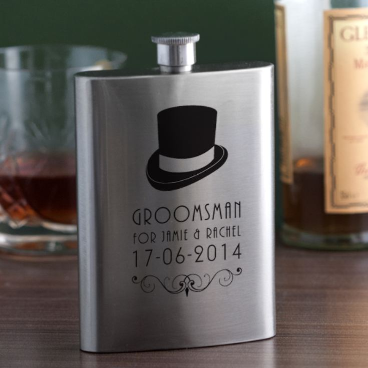 Personalised Groomsman Hip Flask product image