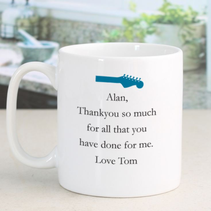 Personalised Simply The Best Guitar Design Mug product image