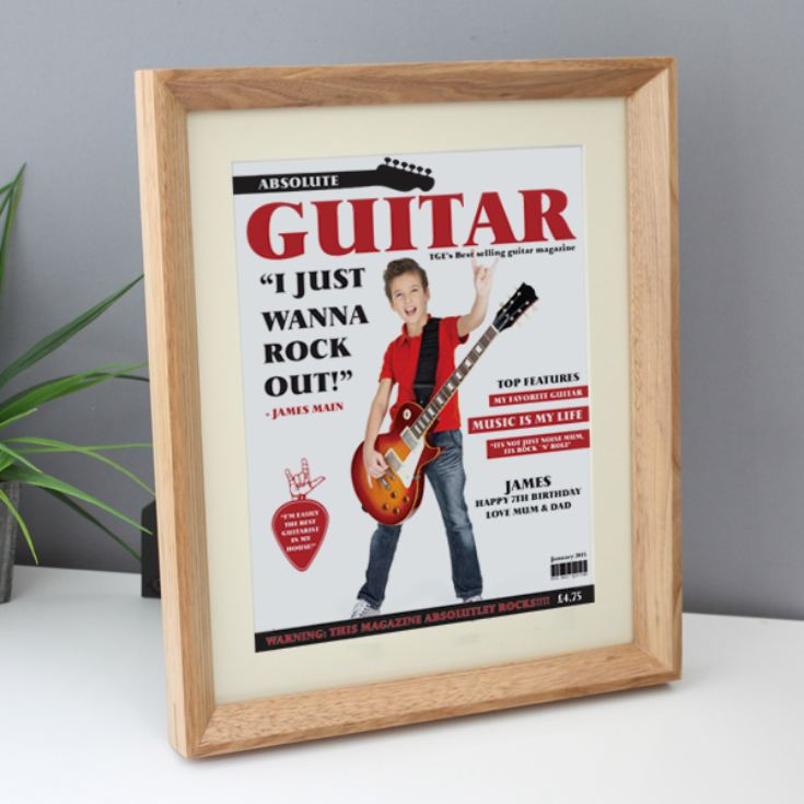 Personalised Guitar Magazine Framed Print product image