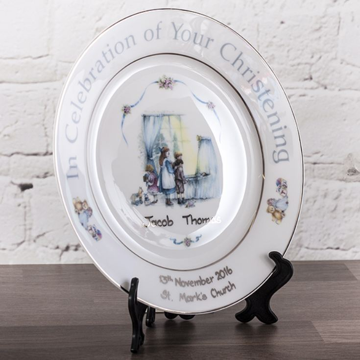 Personalised Heron China Christening Plate product image