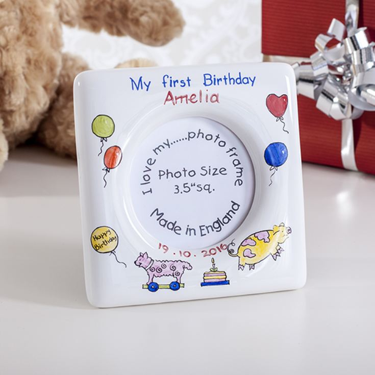 Personalised First Birthday Heron China Photo Frame product image