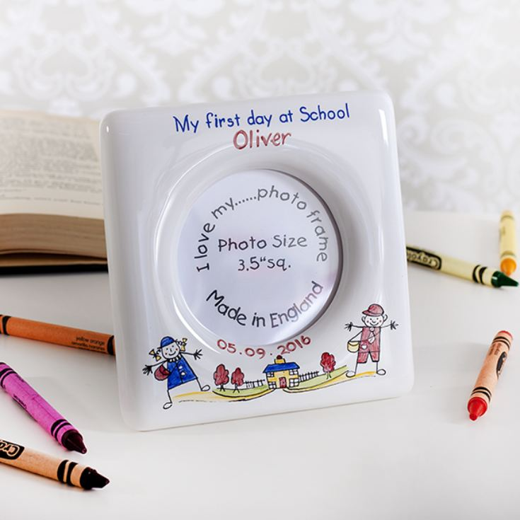 Personalised First Day At School Heron China Photo Frame product image